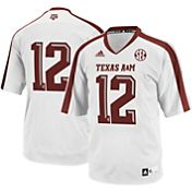 adidas Men's Texas A&M Aggies #12 White Replica Football Jersey