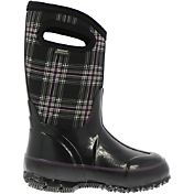 "BOGS Kids' Classic Winter Plaid 10"" Insulated Waterproof Rain Boots"