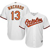 Majestic Men's Replica Baltimore Orioles Manny Machado #13 Cool Base Home White Jersey