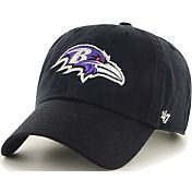 '47 Men's Baltimore Ravens Black Clean Up Adjustable Hat