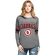 '47 Women's St. Louis Cardinals Grey Courtside Long Sleeve Shirt