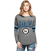 '47 Women's Miami Marlins Grey Courtside Long Sleeve Shirt