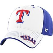 '47 Youth Texas Rangers Revolution MVP White/Royal Adjustable Hat