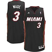 adidas Men's Miami Heat Dwyane Wade #3 Black Swingman Jersey