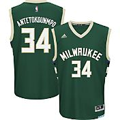 adidas Men's Milwaukee Bucks Giannis Antetokounmpo #34 Road Green Replica Jersey
