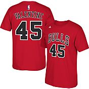 adidas Men's Chicago Bulls Denzel Valentine #45 Red T-Shirt