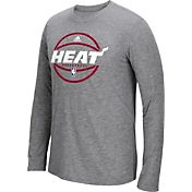 adidas Men's Miami Heat climalite Grey Long Sleeve Shirt