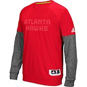 adidas Men's Atlanta Hawks On-Court Red/Grey Long Sleeve Shooting Shirt