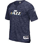 adidas Men's Utah Jazz On-Court Navy Shooting Shirt