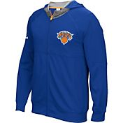 adidas Men's New York Knicks Pre-Game Royal Full-Zip Hoodie