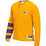 adidas Men's Los Angeles Lakers On-Court Gold Long Sleeve Shooting Shirt