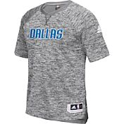 adidas Men's Dallas Mavericks On-Court Grey Shooting Shirt