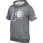 adidas Men's Indiana Pacers Pre-Game Grey Short Sleeve Hoodie