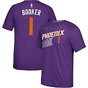adidas Men's Phoenix Suns Devin Booker #1 climalite Purple T-Shirt