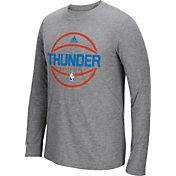 adidas Men's Oklahoma City Thunder climalite Grey Long Sleeve Shirt