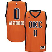 adidas Men's Oklahoma City Thunder Russell Westbrook #0 Alternate Orange Swingman Jersey