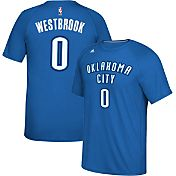 adidas Men's Oklahoma City Thunder Russell Westbrook #0 climalite Royal T-Shirt