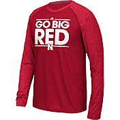 adidas Men's Nebraska Cornhuskers Scarlet Dassler Local Long Sleeve Shirt