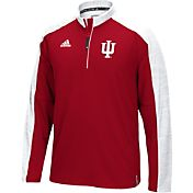 adidas Men's Indiana Hoosiers Crimson/White Sideline Long Sleeve Quarter-Zip Shirt
