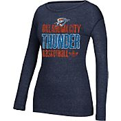 adidas Women's Oklahoma City Thunder Navy Long Sleeve Shirt
