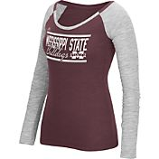 adidas Women's Mississippi State Bulldogs Maroon Double Bar Long Sleeve Shirt