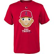 Majestic Youth Los Angeles Angels Mike Trout Emoji Red T-Shirt