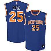 adidas Youth New York Knicks Derrick Rose #25 Road Royal Replica Jersey