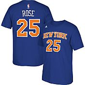 adidas Youth New York Knicks Derrick Rose #25 Royal  T-Shirt