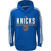 adidas Youth New York Knicks Performance Royal Pullover Hoodie