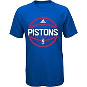 adidas Youth Detroit Pistons climalite Royal T-Shirt