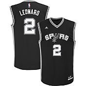 adidas Youth San Antonio Spurs Kawhi Leonard #2 Road Black Replica Jersey