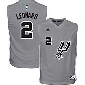 adidas Youth San Antonio Spurs Kawhi Leonard #2 Grey Jersey