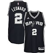 adidas Youth San Antonio Spurs Kawhi Leonard #2 Road Black Swingman Jersey