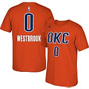 adidas Youth Oklahoma City Thunder Russell Westbrook #0 Orange T-Shirt
