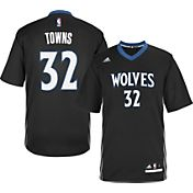 adidas Youth Minnesota Timberwolves Karl-Anthony Towns #32 Alternate Black Replica Jersey