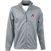 Antigua Men's Arizona Diamondbacks Full-Zip Silver Golf Jacket