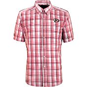 Antigua Men's Arizona Diamondbacks Alumni Red Plaid Button-Up Shirt