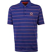 Antigua Men's New York Mets Deluxe Royal Striped Performance Polo