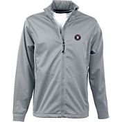 Antigua Men's Houston Astros Full-Zip Silver Golf Jacket