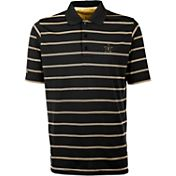 Antigua Men's Vanderbilt Commodores Deluxe Performance Black Polo