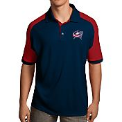 Antigua Men's Columbus Blue Jackets Navy/Red Century Polo