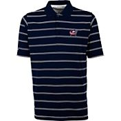 Antigua Men's Columbus Blue Jackets Deluxe Navy Polo