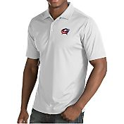 Antigua Men's Columbus Blue Jackets Inspire White Polo
