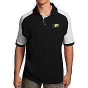 Antigua Men's Anaheim Ducks Black/White Century Polo