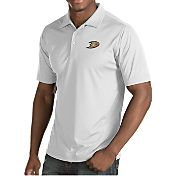 Antigua Men's Anaheim Ducks Inspire White Polo