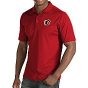 Antigua Men's Calgary Flames Inspire Red Polo