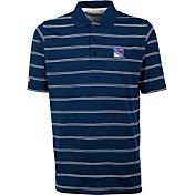 Antigua Men's New York Rangers Deluxe Blue Polo
