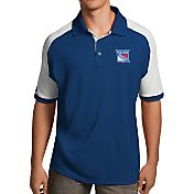 Antigua Men's New York Rangers Royal/White Century Polo