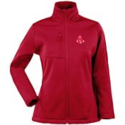 Antigua Women's Boston Red Sox Traverse Soft Shell Full-Zip Red Jacket