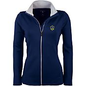 Antigua Women's Los Angeles Galaxy Navy Leader Full-Zip Jacket
